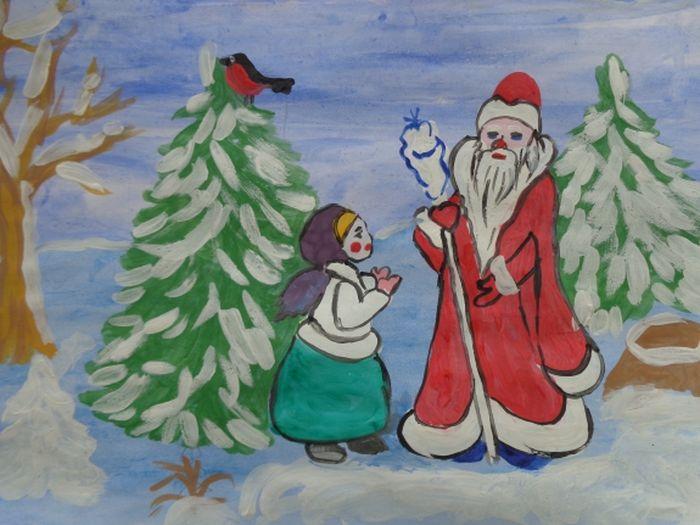 рисунок морозко из сказки поклонники