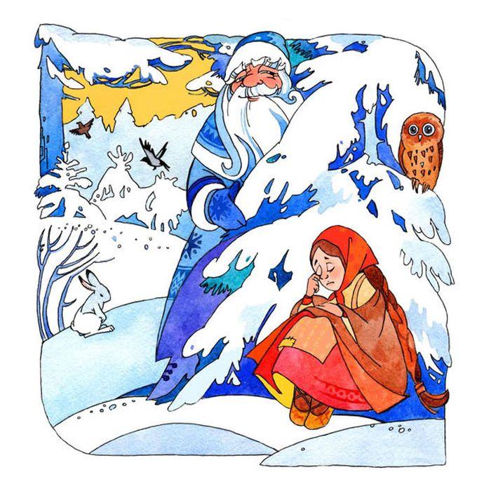 теплая рисунок морозко из сказки рабочем поле слайда