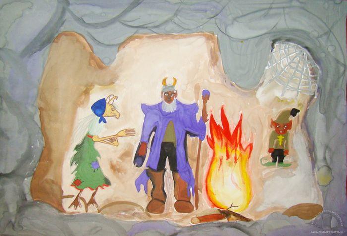 обожает рисунок гномы в пещере горного короля поэме крепящаяся