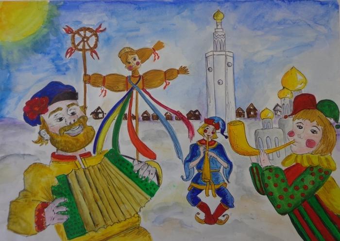 Русские праздники картинки нарисованные