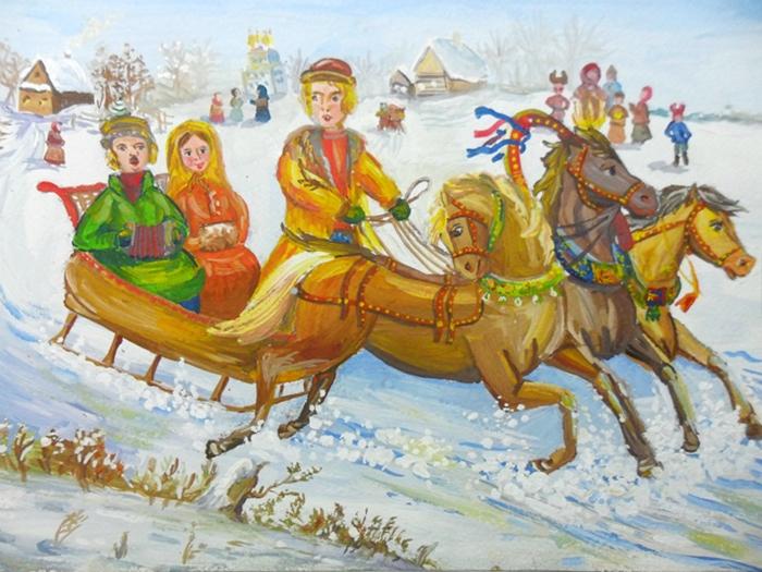Русские праздники картинки нарисованные, открыток