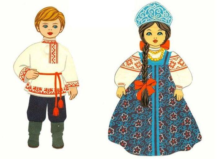 Русский народный костюм картинки для детей дошкольного возраста