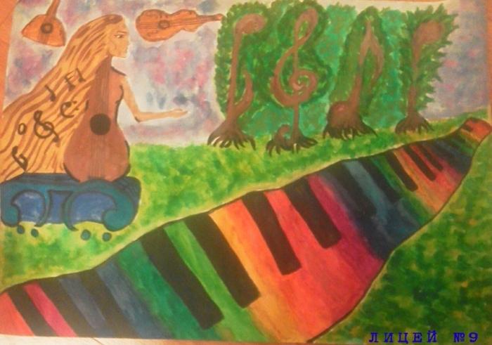 Нарисуй в дневнике музыкальных наблюдений картинку на тему звучащая природа