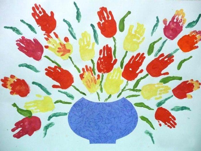 Пожеланиями доброго, рисование ладошками для детей 2-3 лет картинки