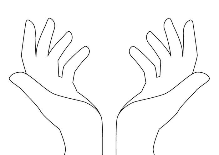 картинки ладошки-шаблоны для аппликации вырезать бумаги рельефный
