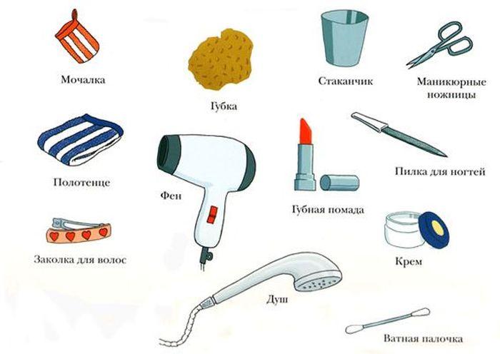 Картинки для детей предметы гигиены