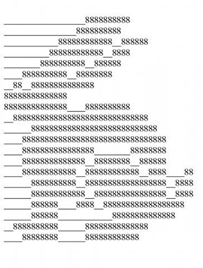 нарисовать картинки из символов на клавиатуре