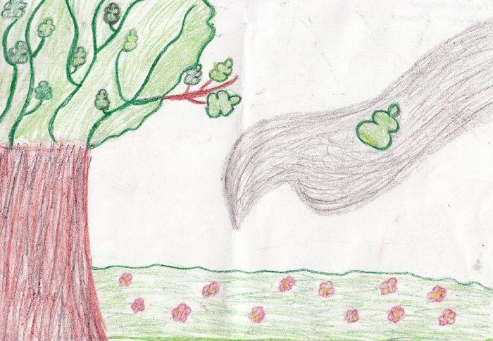 специально рисунки к стихотворению листок тютчев оттенках