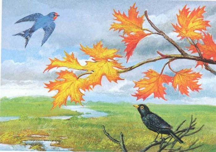 картинка к стиху листья месяца нет чело