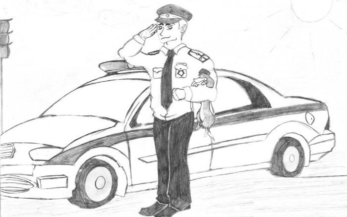 Профессия милиция рисунок, открытки день
