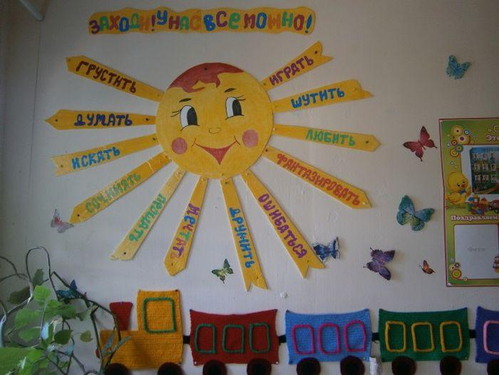 Оформление приемных в детском саду с картинками