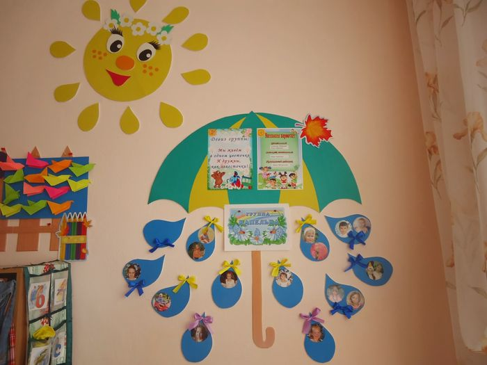 Идеи в картинках оформление группы детского сада