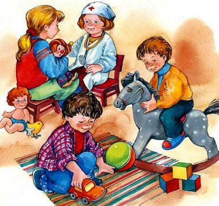 Открытки, игра с рисунками для детей