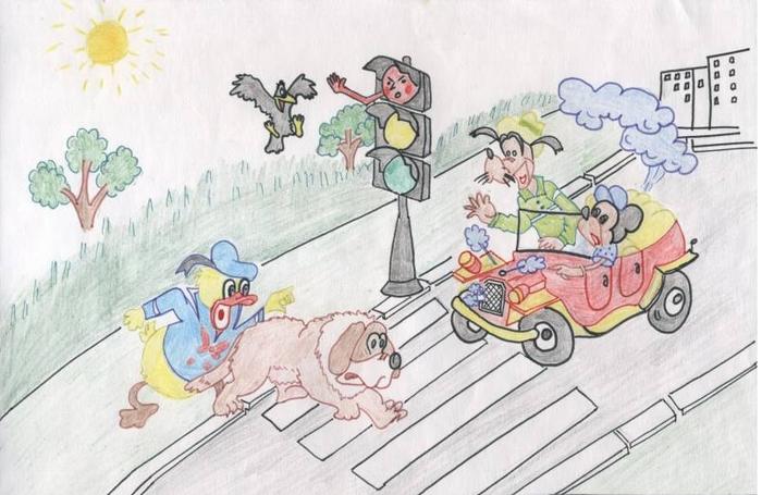Картинки на правила дорожного движения для детей нарисовать, смешные про