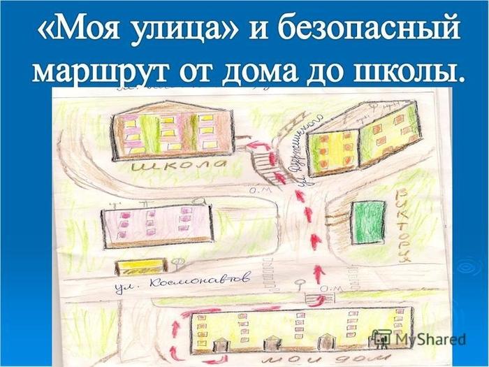 Рождественской, схема маршрута мой город технология 3 класс в картинках