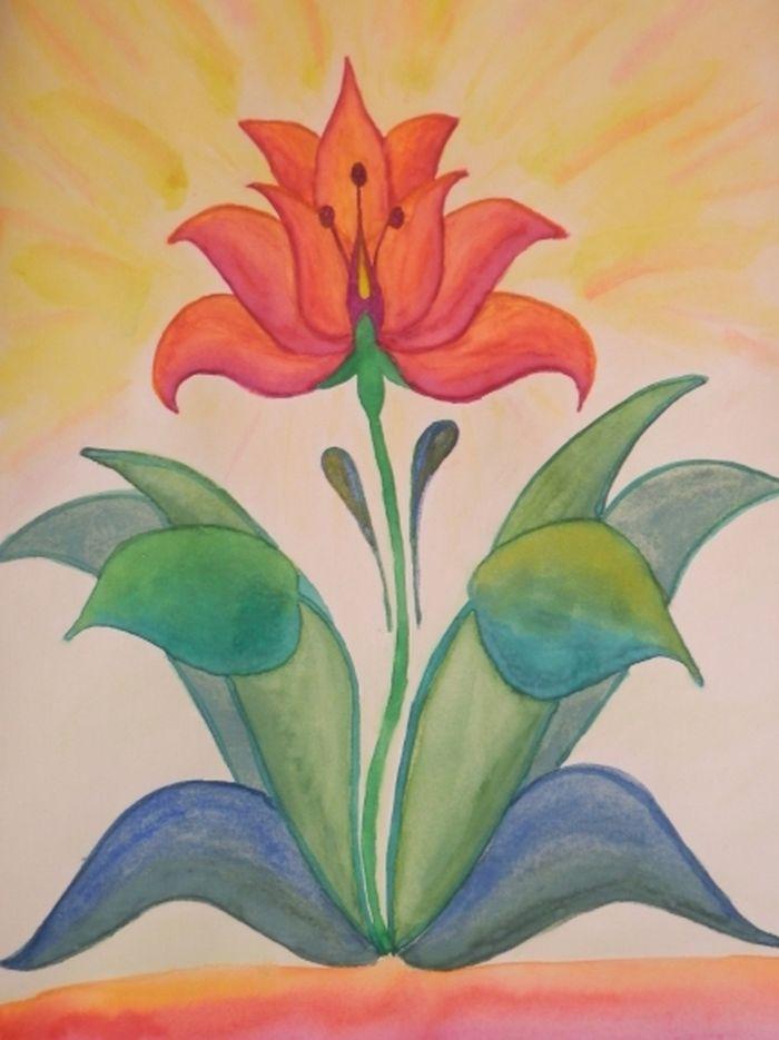 рисунки к произведению каменный цветок жаростойкую