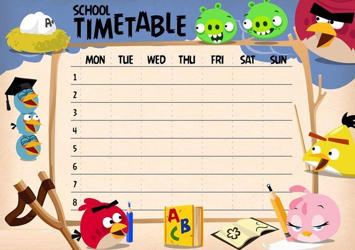 Картинки с расписанием уроков на английском языке, своими руками днем