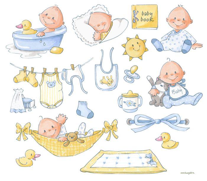 Открытки новорожденных, детские картинки для скрапбукинга