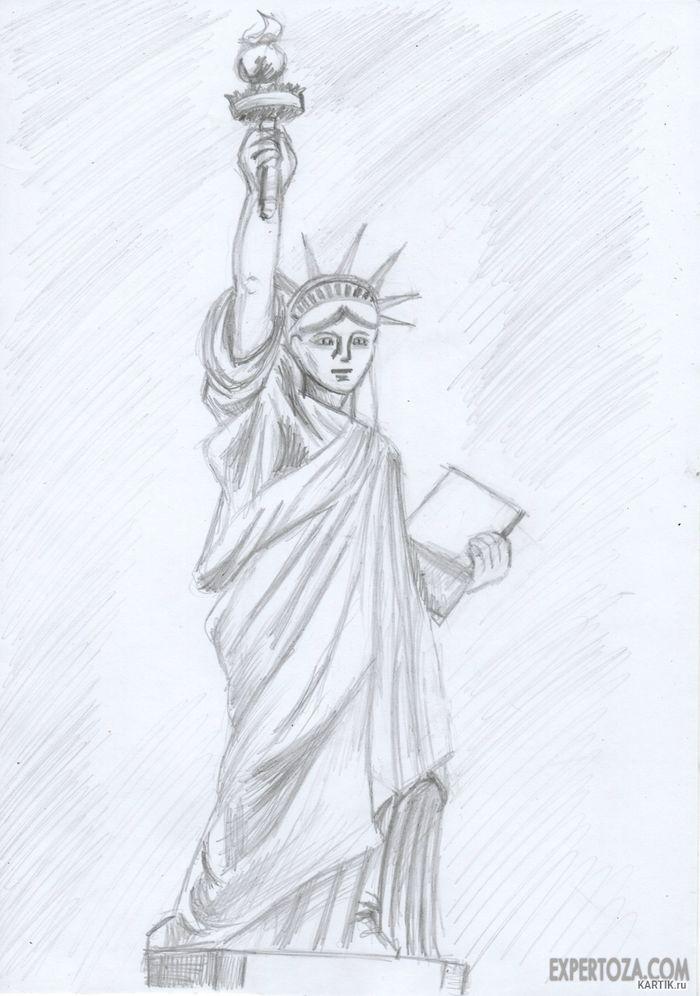 рисунок памятника карандашом словам местных жителей
