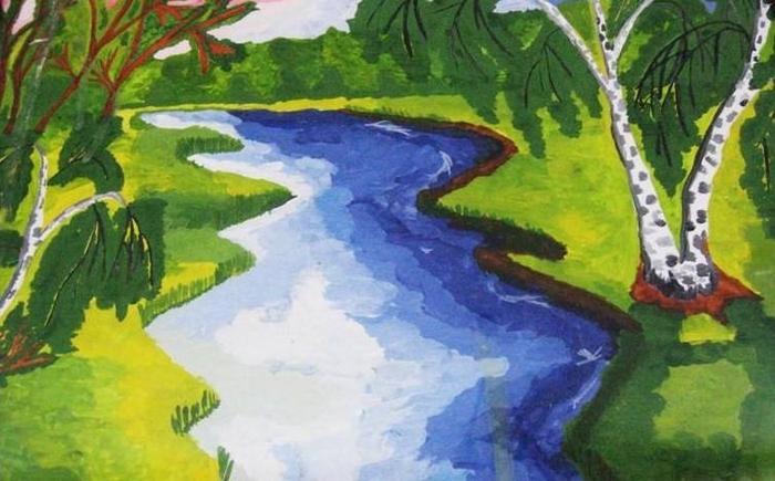 Картинка река море для детей