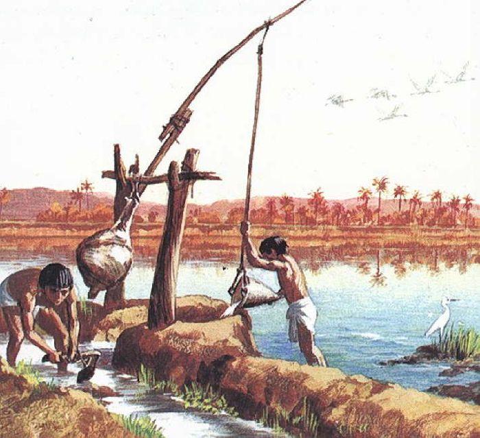 древний египет ирригационная система картинки