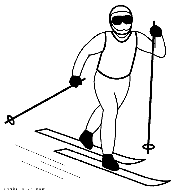 Картинки лыжников карандашом