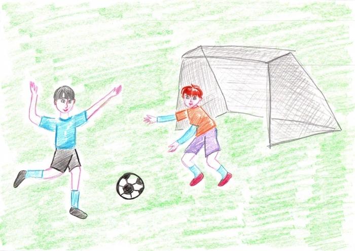 Детские рисунки о футболе