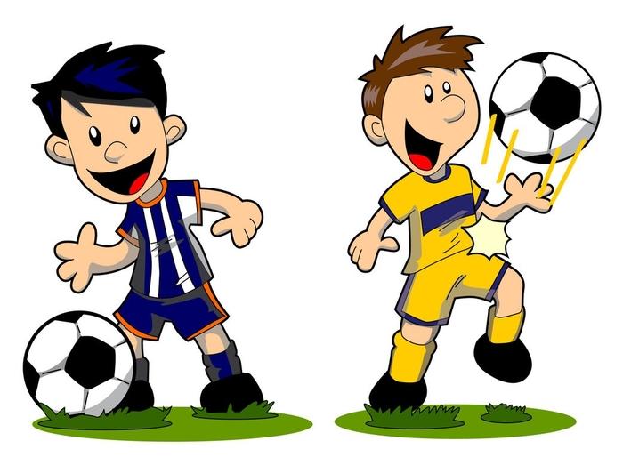 Прикольное поздравление, картинка о футболе для детей