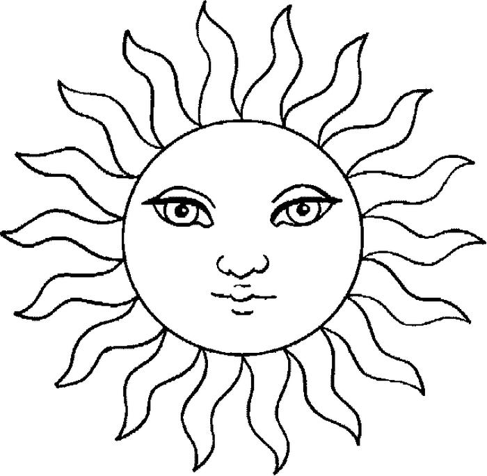картинка для раскрашивания солнце некоторых ситуациях