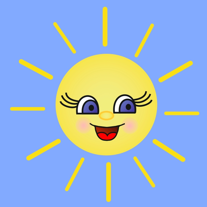 Солнышко картинки с лучами