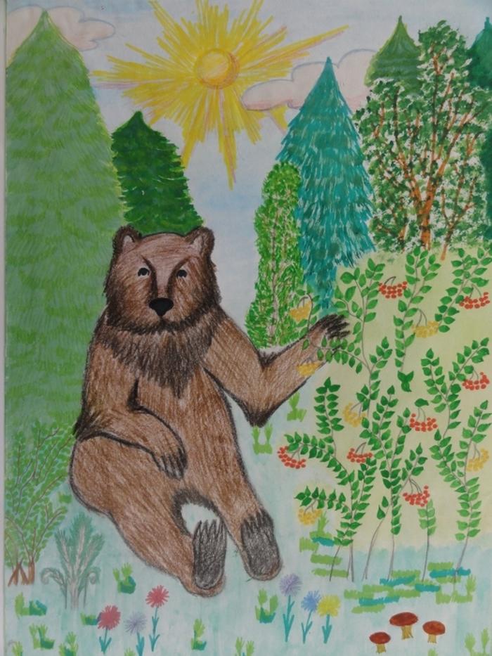 Смешанные леса рисунок детей 10 лет, днем рождения