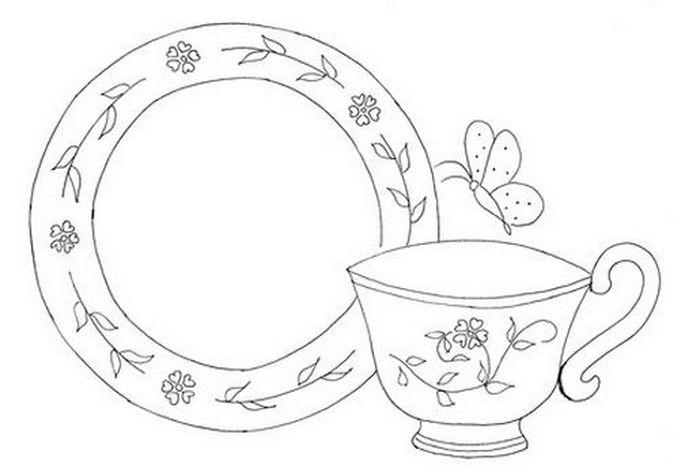 раскраска чайная пара чашка и блюдце фото домов