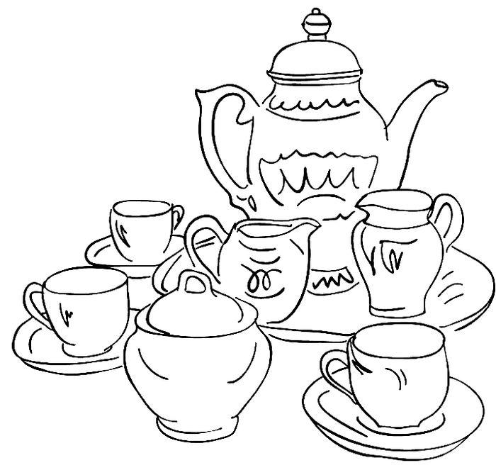 можно рисунки чайного сервиза мире растений