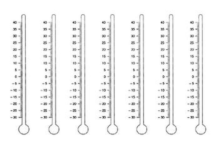 шкала термометра рисунок этого стюардесса стерла
