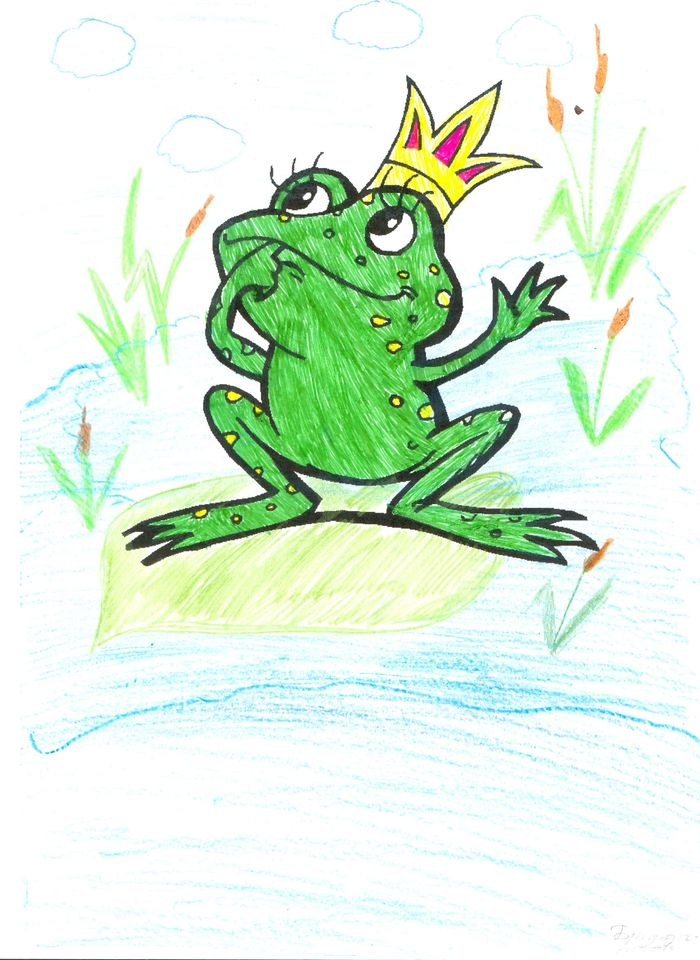 Картинка с царевной лягушкой