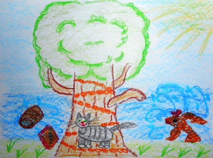Детские рисунки у лукоморья дуб зеленый