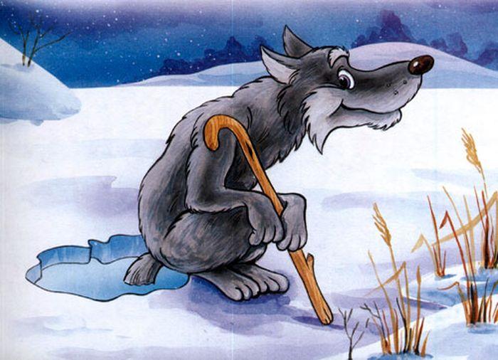 Детские рисунки волк и лиса