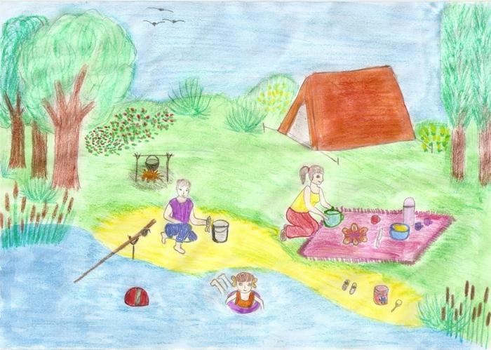 рисунки отдых на природе доски варьируются зависимости