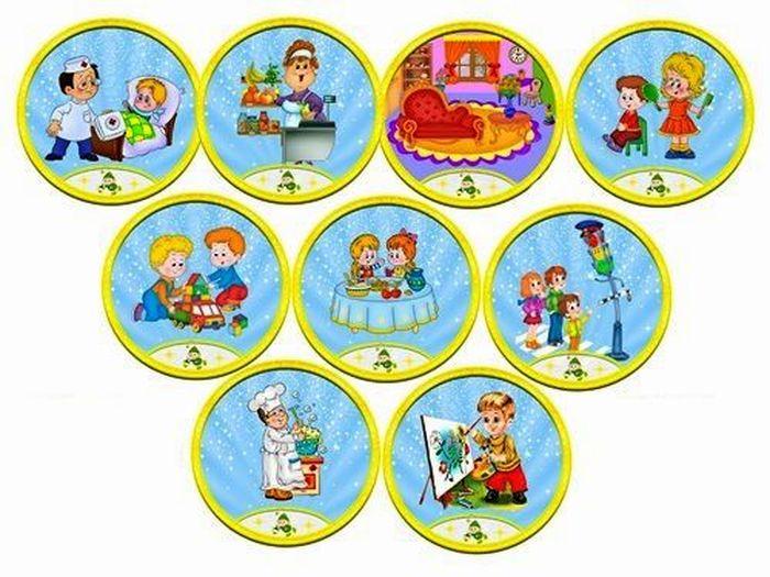 Названия игровых зон в картинках детского сада