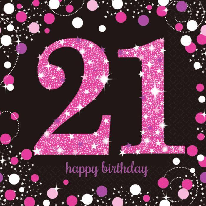 Поздравление для девушки с днем рождения на 21 год