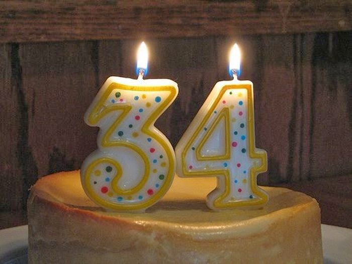 Поздравления днем рождения 34 года