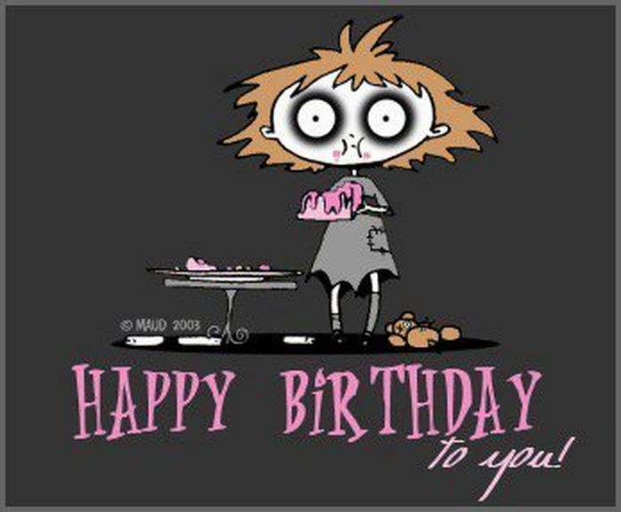 Мрачное поздравление с днем рождения