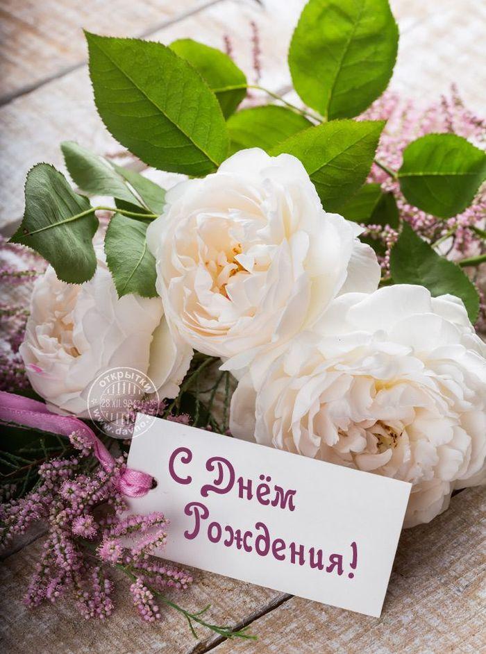 Поздравить с днем рождения картинка с цветами